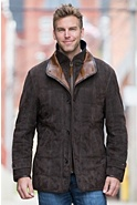 Napoli II Quilted Sueded Lambskin Leather Jacket