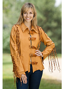 Women's Lomasi Fringed Leather Jacket
