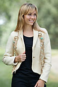Women's Kachina Fringed Leather Blazer