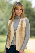 Women's Aponi Fringed Leather Vest