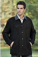 Men's Fred Lamb Suede Shirt Jacket