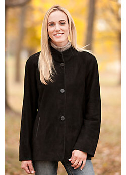 Women's Faith Lamb Suede Coat