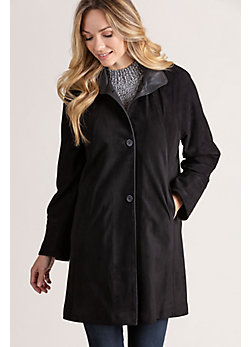 Women's Sophie Suede Leather Coat