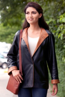 Caprice Lambskin Leather Coat