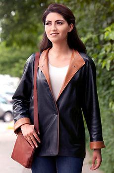 Caprice Lambskin Leather Coat