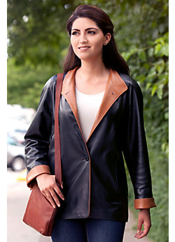 Women's Caprice Lambskin Leather Coat