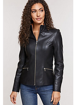 Women's Katie Napa Lambskin Leather Jacket
