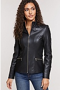 Katie Napa Lambskin Leather Jacket