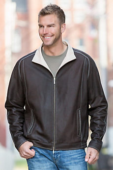 Lincoln Lambskin Leather Bomber Jacket
