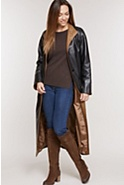 Women's Vickie Full-Length Lambskin Leather Coat