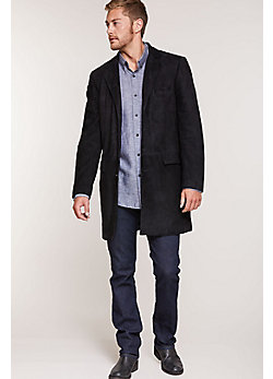 Jerry Suede Leather Walking Coat