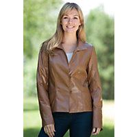 Women's Monica Lambskin Leather Jacket, VINTAGE, Size 12