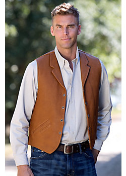 Gage Bison Leather Vest