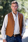 Men's Gage Bison Leather Vest