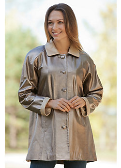 Women's Elena Lambskin Leather Coat