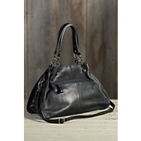Women's Vachetta Leather Shoulder Bag, Black Western & Country