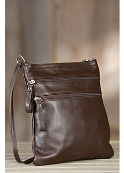 Women's Trinity Calfskin Leather Crossbody Handbag