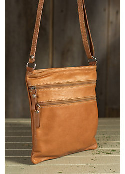 Trinity II Calfskin Leather Crossbody Handbag