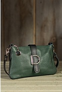 Women's Carlton Calfskin Leather Crossbody Clutch Handbag