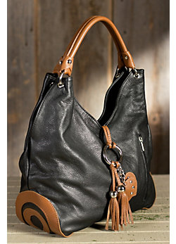 Calfskin Leather Shoulder Tote Bag