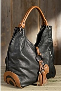 Women's Calfskin Leather Shoulder Tote Bag