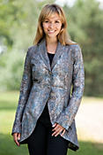 Tulip Contoured Leather Blazer