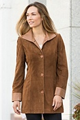 Women's Fiona Lamb Suede Leather Jacket