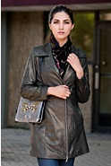 Women's Isabella Lambskin Leather Coat