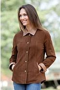 Women's Joy Sueded Lambskin Leather Shirt