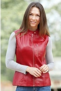 Women's Falcon Napa Lambskin Leather Vest