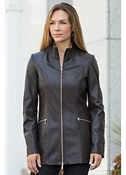 Women's Kathlyn Lambskin Leather Jacket