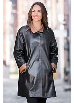 Sophie Napa Lambskin Leather Coat