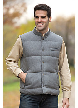 Men's Bruno Reversible Wool-Blend and Down Vest