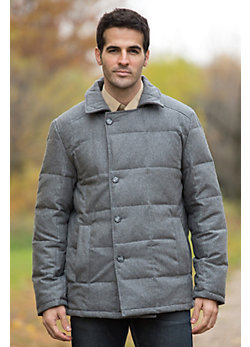 Men's Logan Wool-Blend Pea Coat with Down Lining