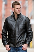 Men's Jacob Lambskin Leather Bomber Jacket