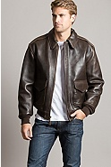 Men's Charles Lambskin Leather A-2 Bomber Jacket