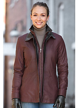 Women's Zinnia Lambskin Leather Coat
