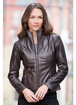 Astrid Lambskin Leather Jacket