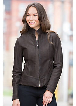 Melissa Nubuck Lambskin Leather Jacket