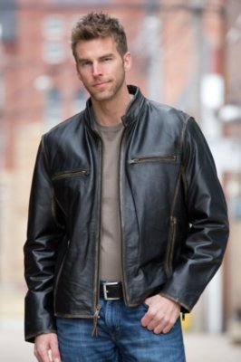 Jose Retro Cowhide Leather Motorcycle Jacket