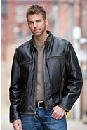 Jose Retro Leather Motorcycle Jacket