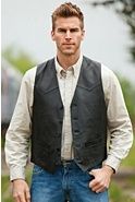 Men's Creed Western Lambskin Leather Vest (Tall)