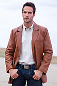 Men's Harrison Lambskin Leather Blazer
