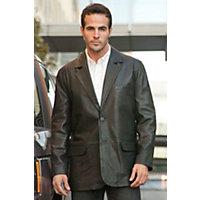 Men's Harrison Lambskin Blazer (Tall), 198 Black, Size 40 Long Western & Country