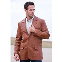 Men's Harrison Lambskin Blazer (Tall), 29 Brown, Size 40 Long Western & Country