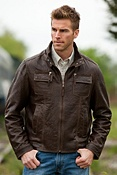 Men's Corbett Lambskin Leather Jacket