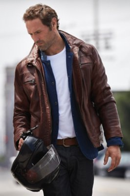 Memphis Lambskin Leather Bomber Jacket