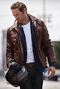 Men's Memphis Lambskin Leather Bomber Jacket