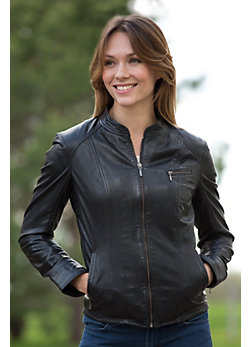 Women's Sacha Lambskin Leather Jacket