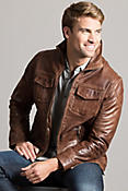 Men's Heath Lambskin Leather Jacket
